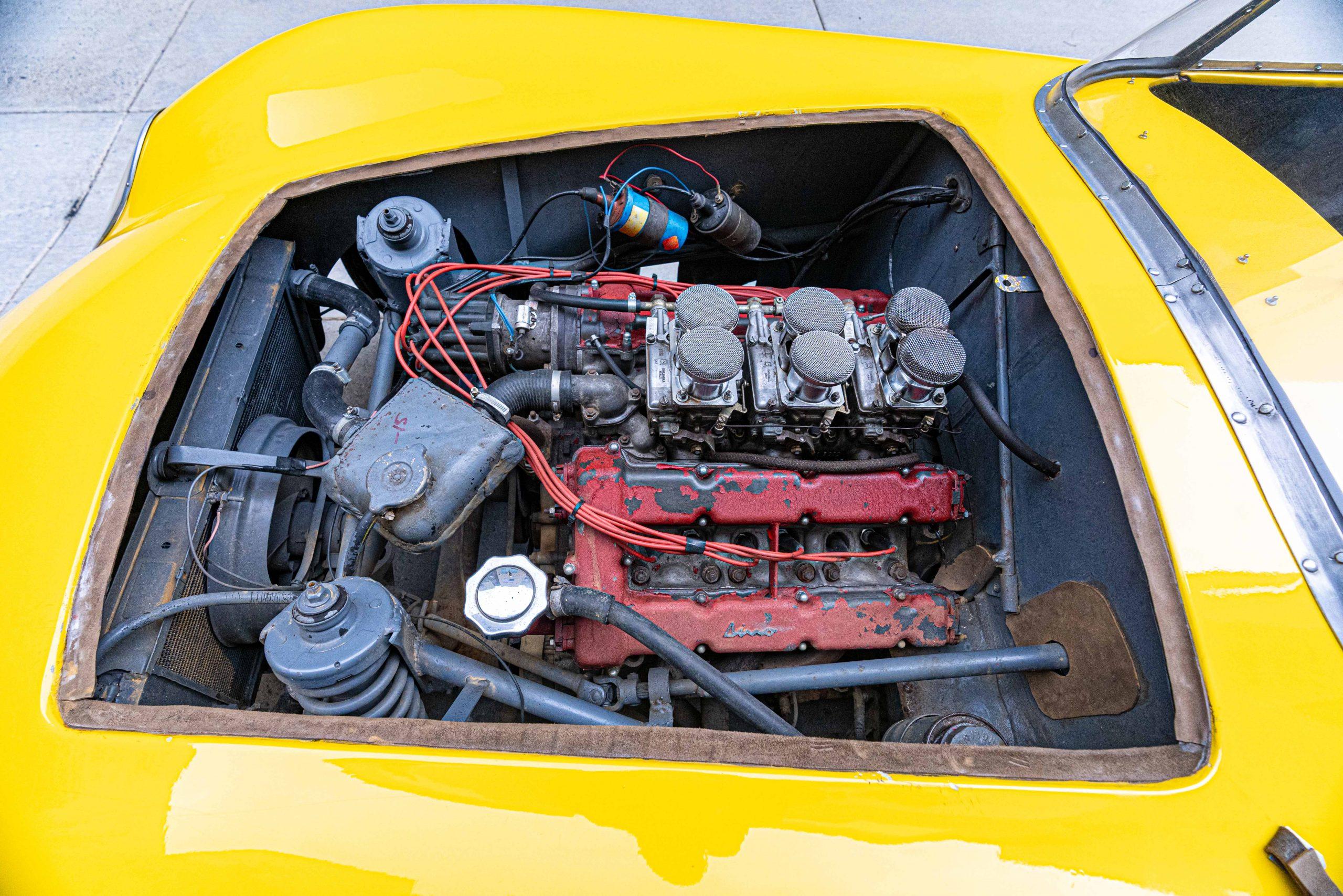 1957 Ferrari 196 engine driver side view
