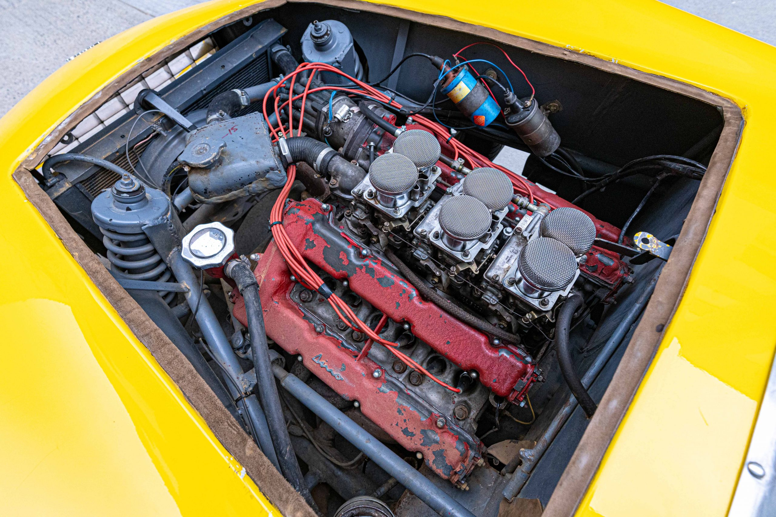 1957 Ferrari 196 SP Engine driver side rear view