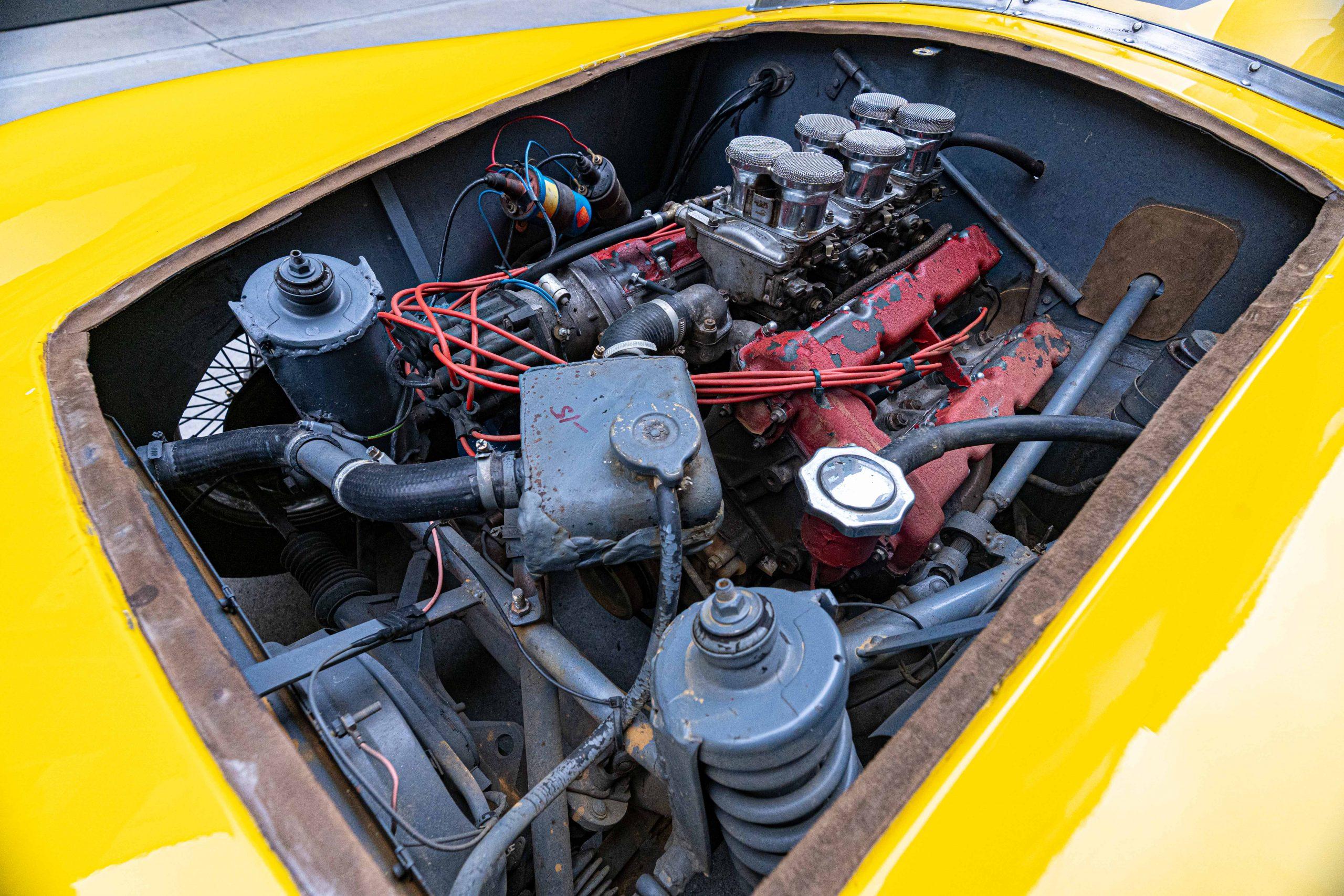 1957 Ferrari 196 SP Engine driver front view
