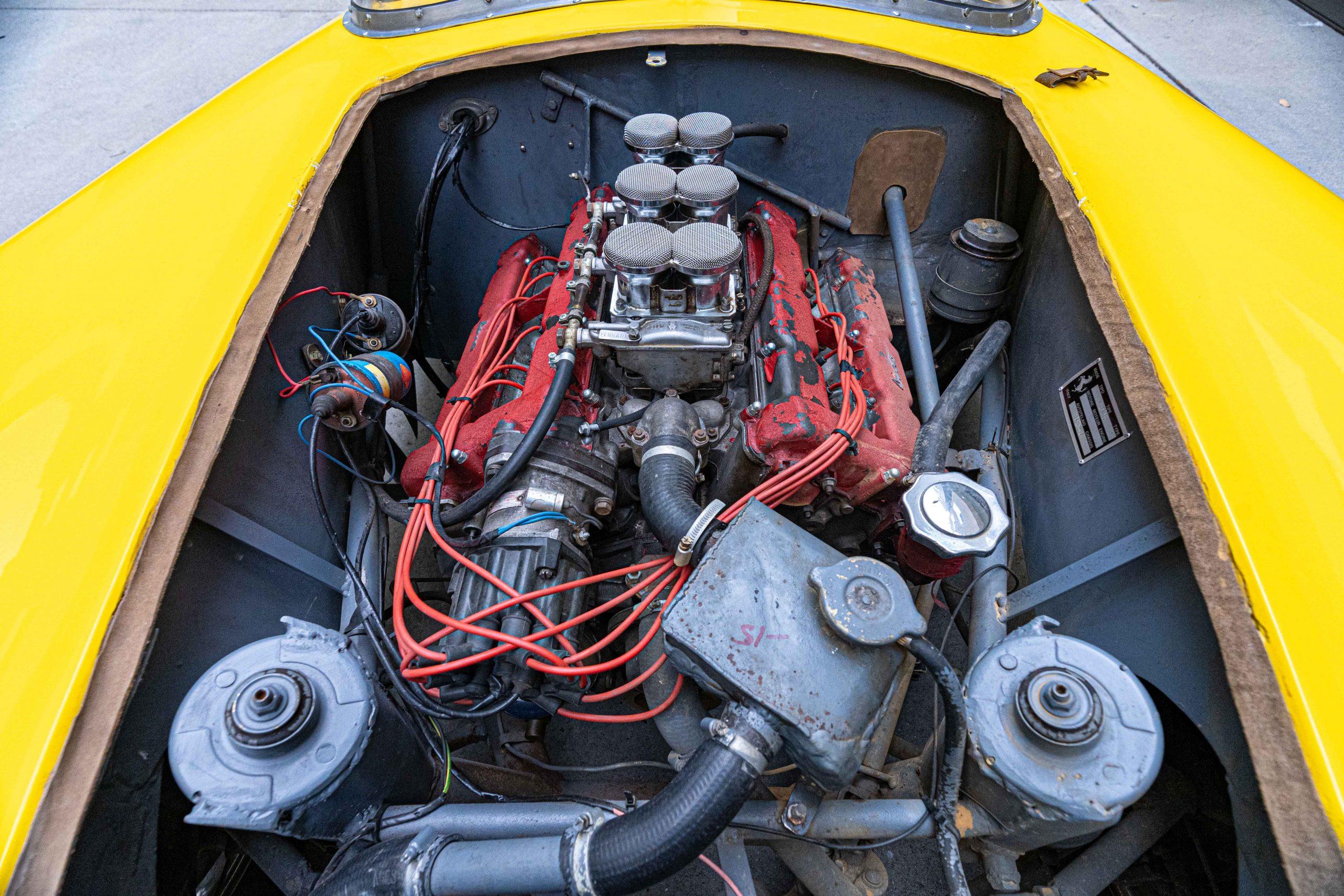 1957 Ferrari 196 SP Engine front view