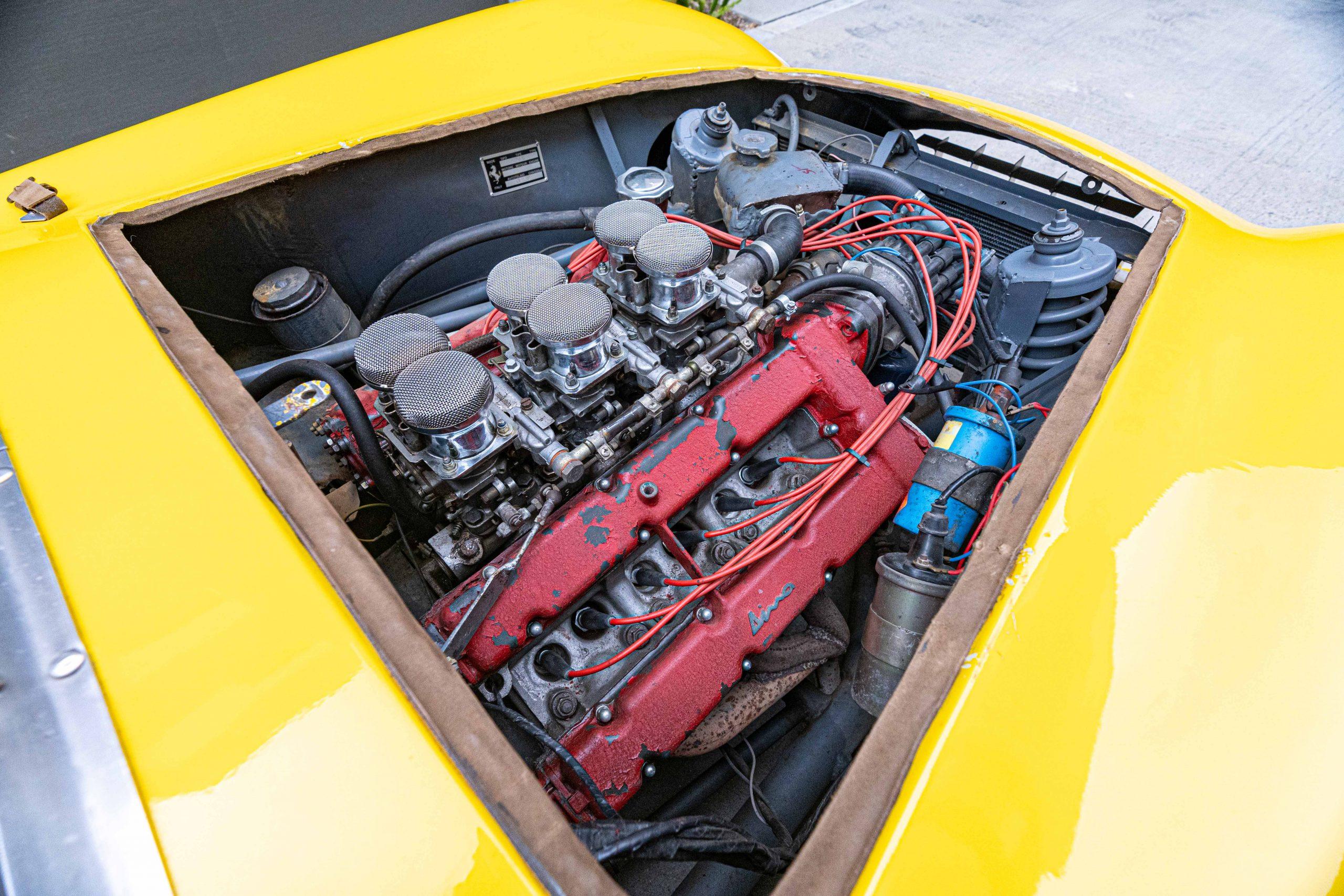 1957 Ferrari 196 SP Engine passenger view