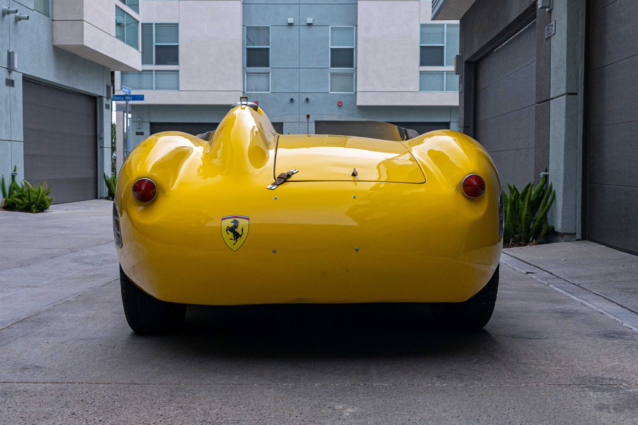 1957 Ferrari 196 SP Rear View