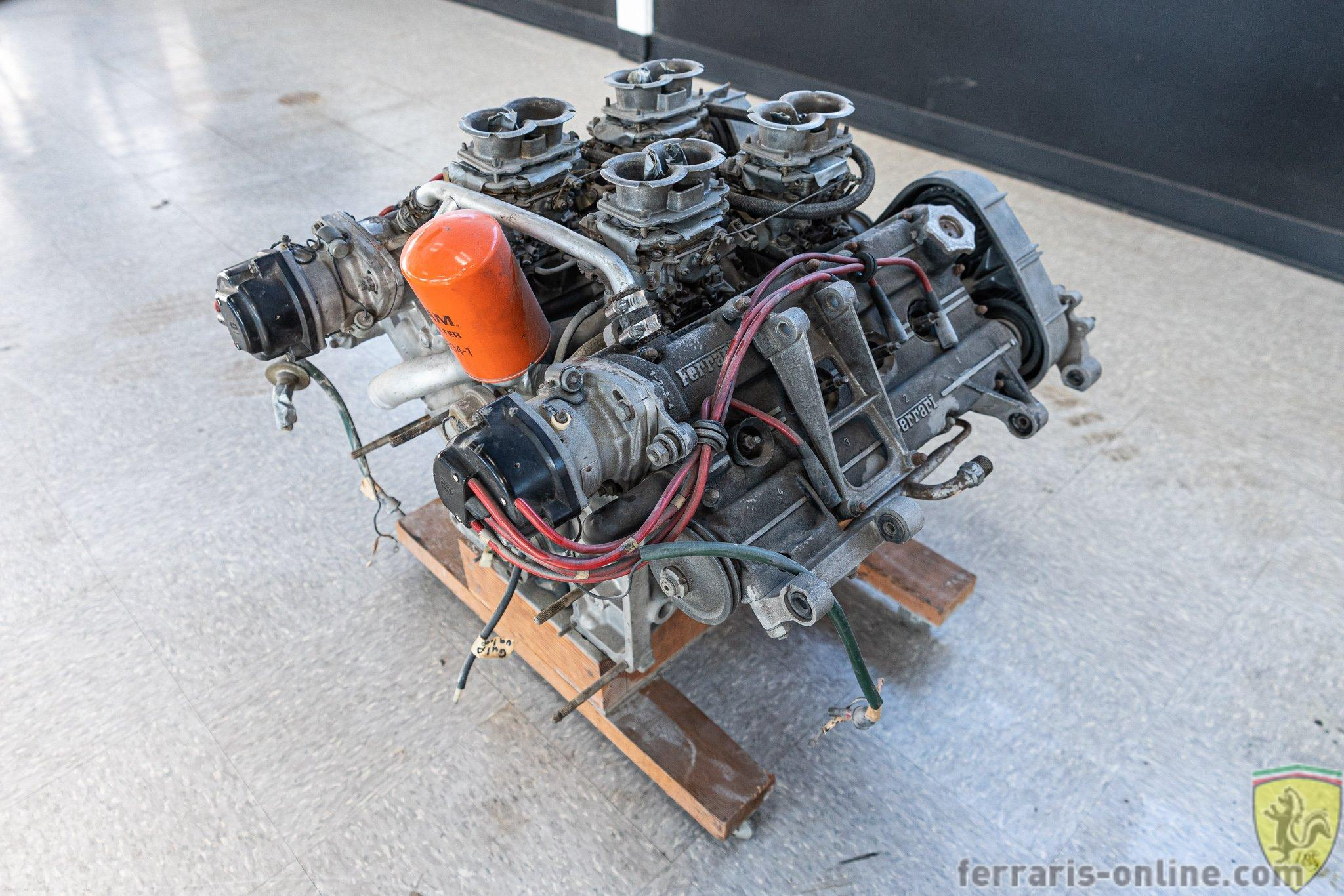 1977 Ferrari carbureted 308 engine tipo F106A #02570