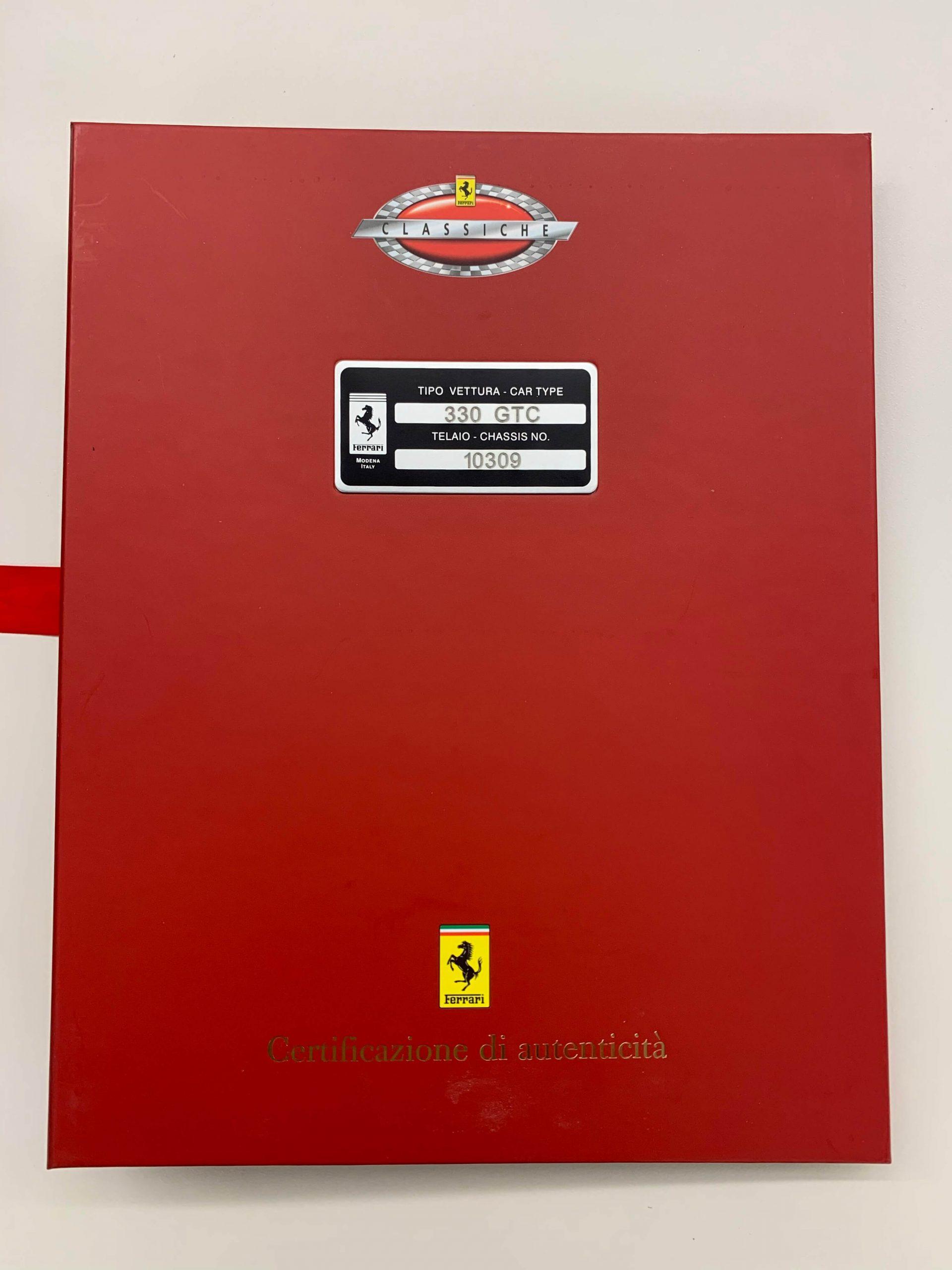 Classiche certified Ferrari 330 GTC