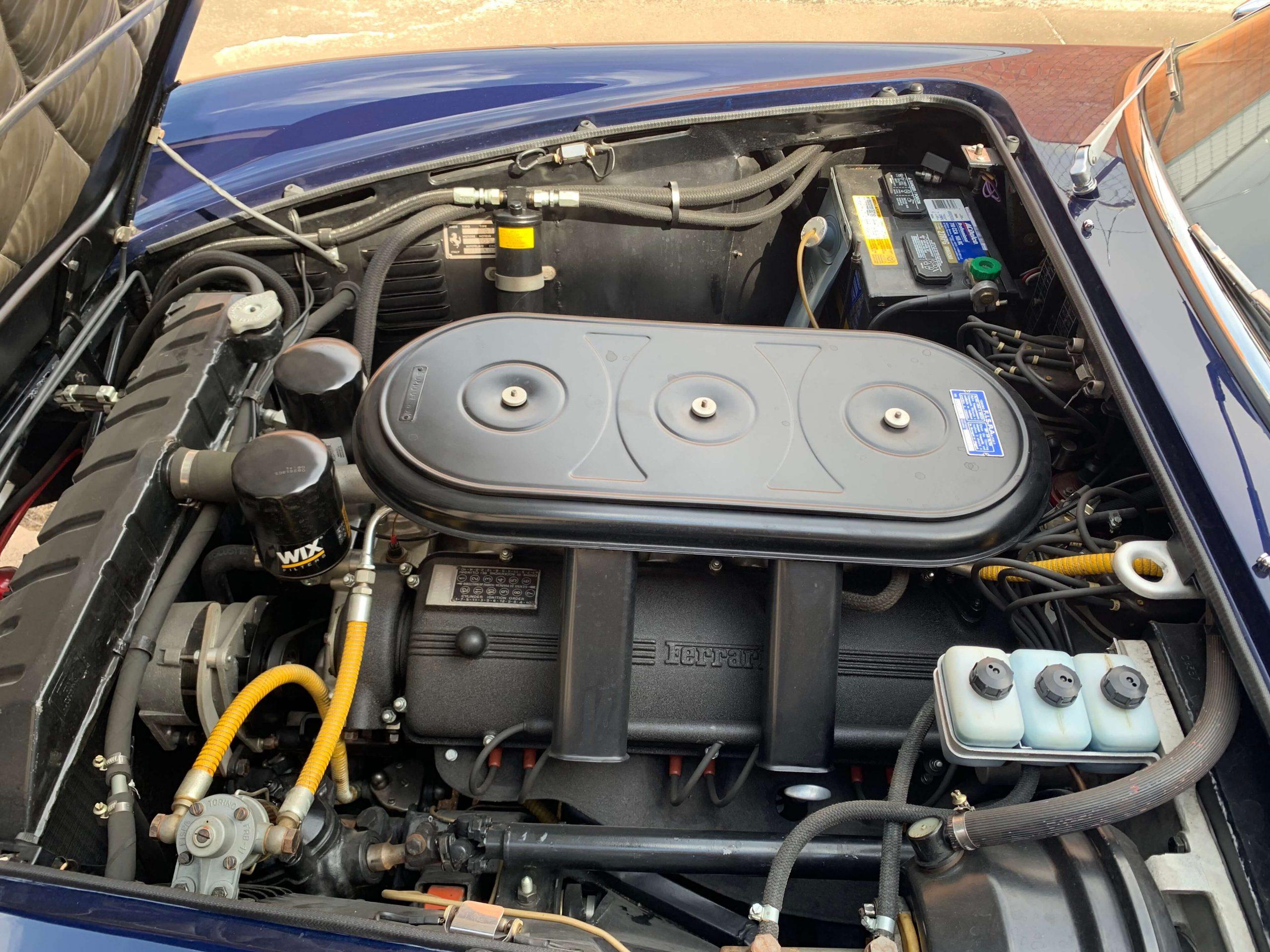 Ferrari 330 GTC Engine bay from left