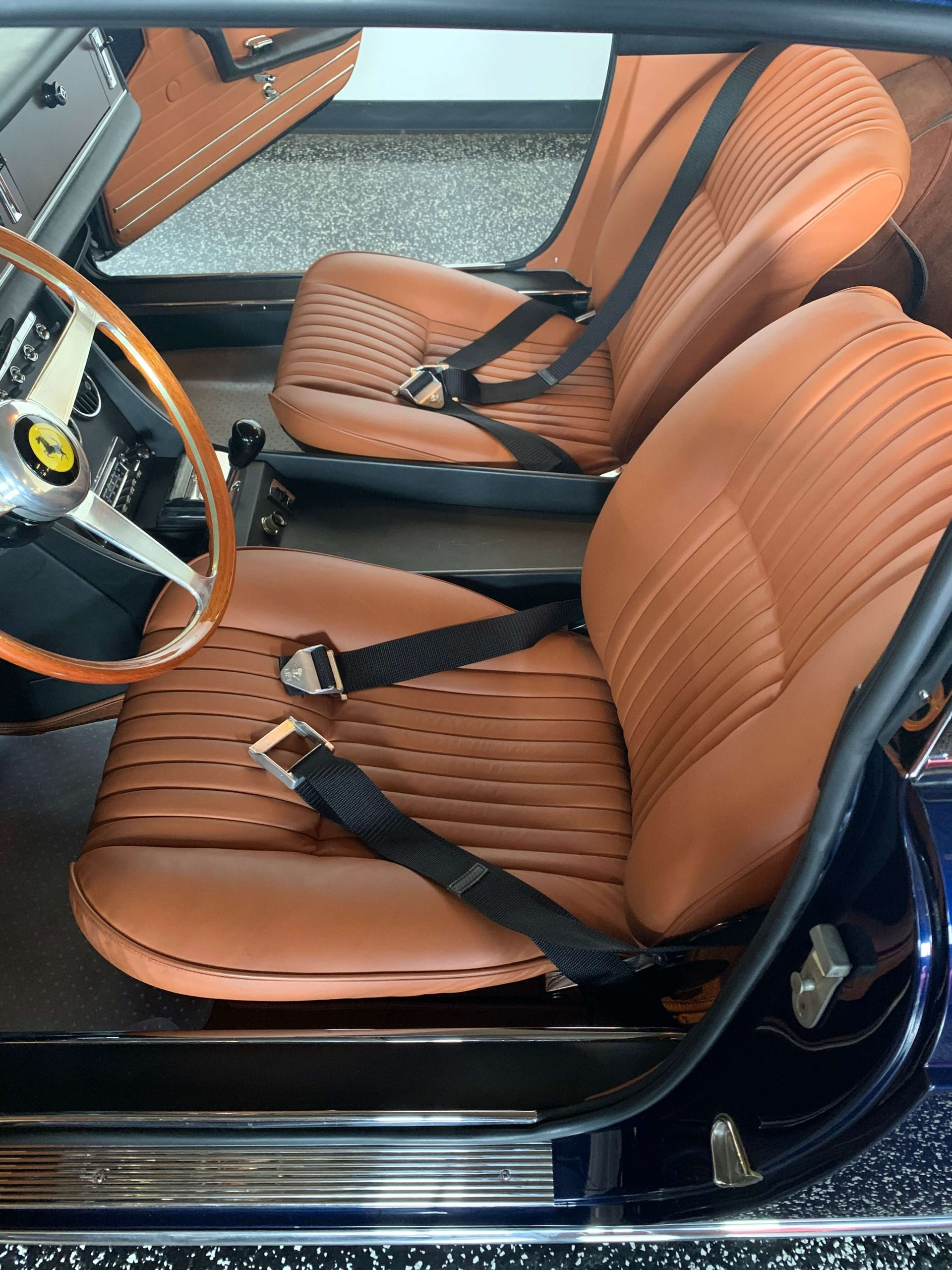 Ferrari 330 GTC Interior from left