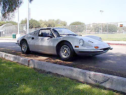 1974 Ferrari 246 GTS front passenger view