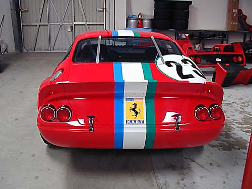 Ferrari Comp Daytona rear view