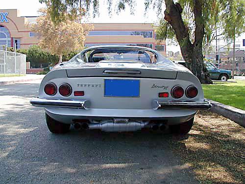 1974 Ferrari 246 GTS Rear View
