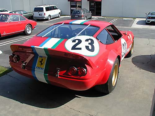Ferrari 365 GTB4/C Comp Daytona passenger rear view