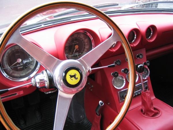 1963 Ferrari 400 Superamerica steering wheel and dash
